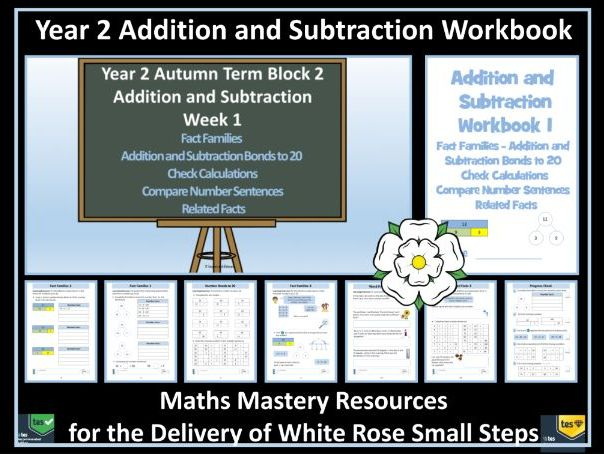 Addition and Subtraction: Workbook:  Year 2 Autumn Term  Block 2 - For White Rose Maths Small Steps
