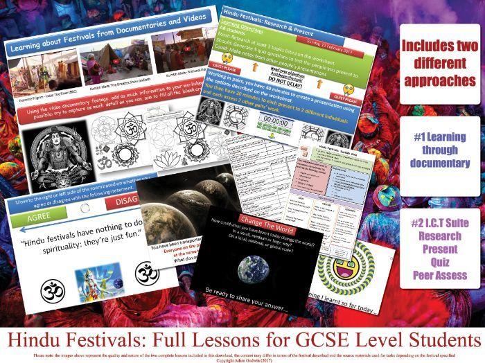 Holi - Hindu Festivals - FULL LESSON - GCSE Hinduism (COMPLETE RESOURCES) KS4 RE RS AQA OCR