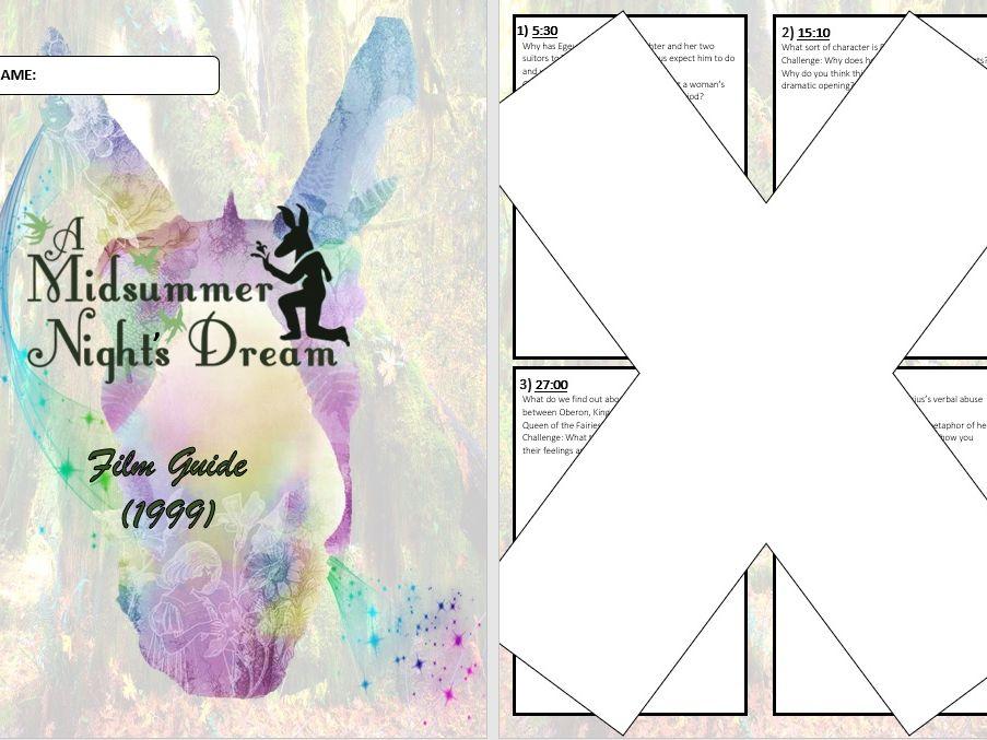 A Midsummer Night's Dream Film Question Booklet