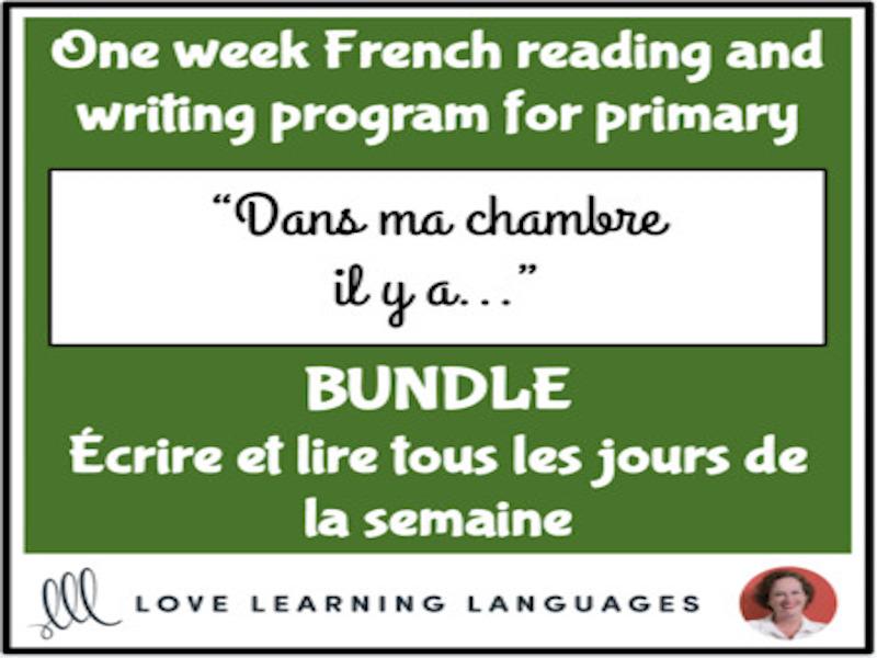 Lire et écrire tous les jours #3 - French primary reading and writing BUNDLE