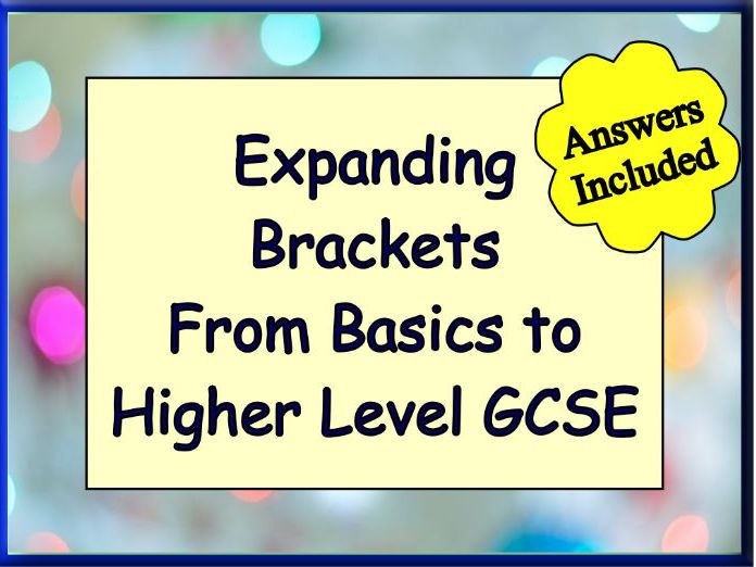 Over 100 Questions + answers on Expanding Brackets