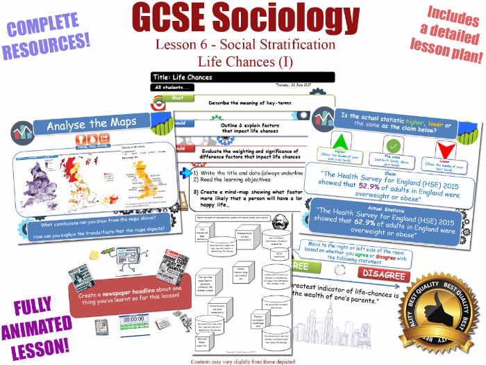 Life Chances (I) - Social Stratification -L6/20 [ WJEC EDUQAS GCSE Sociology ] Weber Weberian NEW