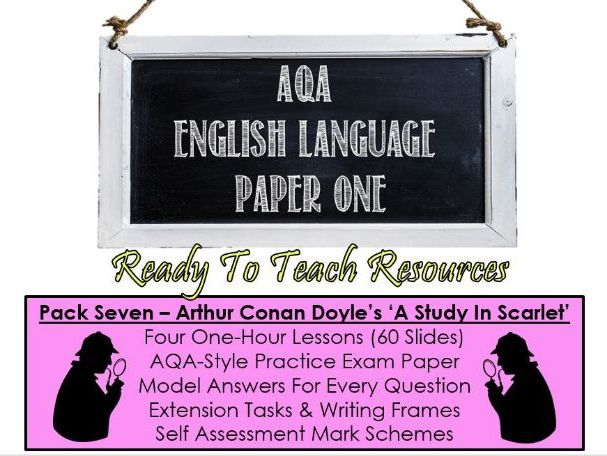 AQA English Language Paper One - A Study In Scarlet