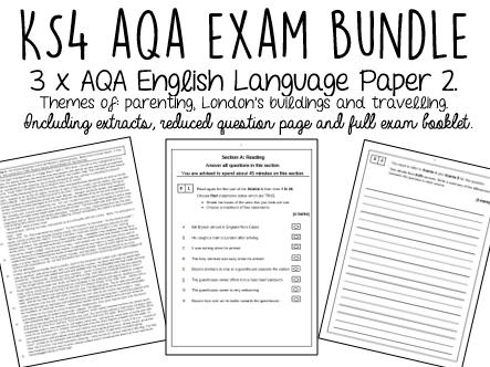 AQA GCSE English Language Paper 2 BUNDLE