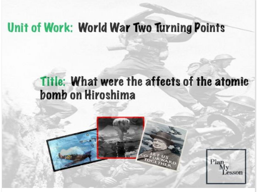 What were the effects of the atomic bomb on Hiroshima?