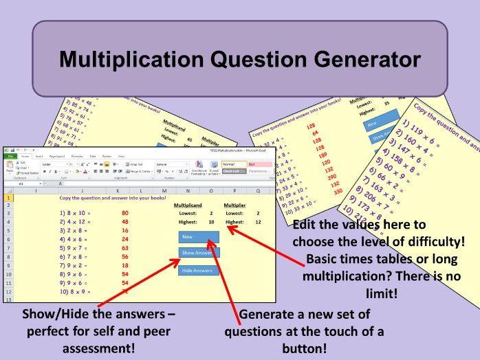 Multiplication Generator