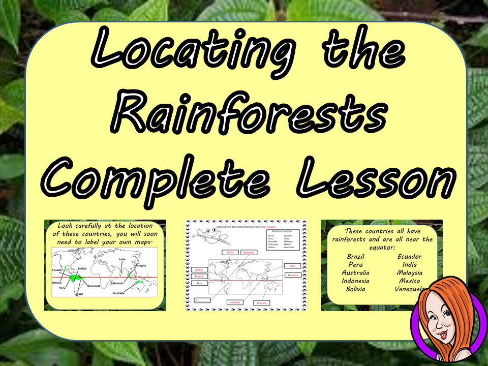 Mapping the Rainforests Complete STEAM Lesson