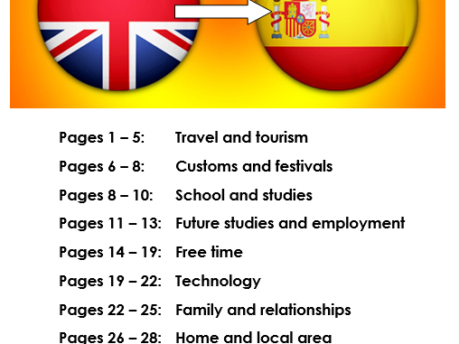 AQA GCSE Spanish translation practice booklet (Into Spanish). For the new 9-1 specification.