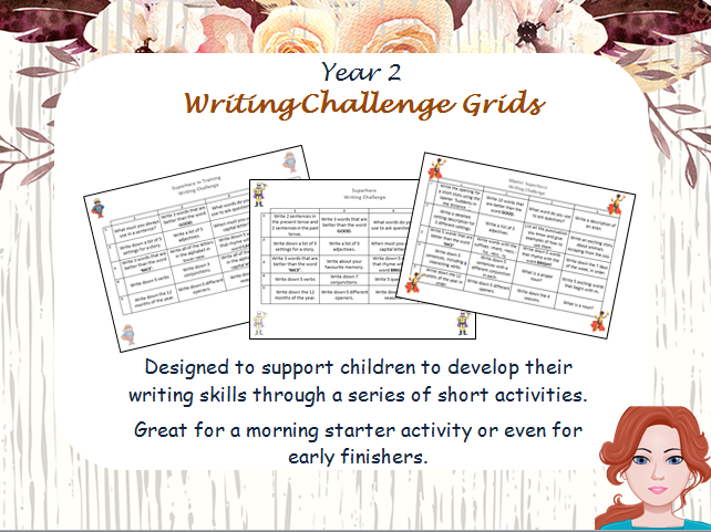 Year 2 Writing Challenge Activities (differentiated)