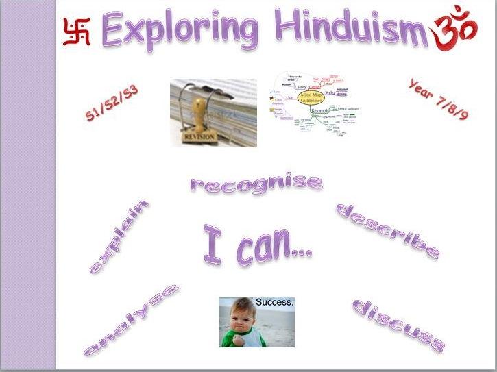 Exploring Hinduism - revision (mind map)
