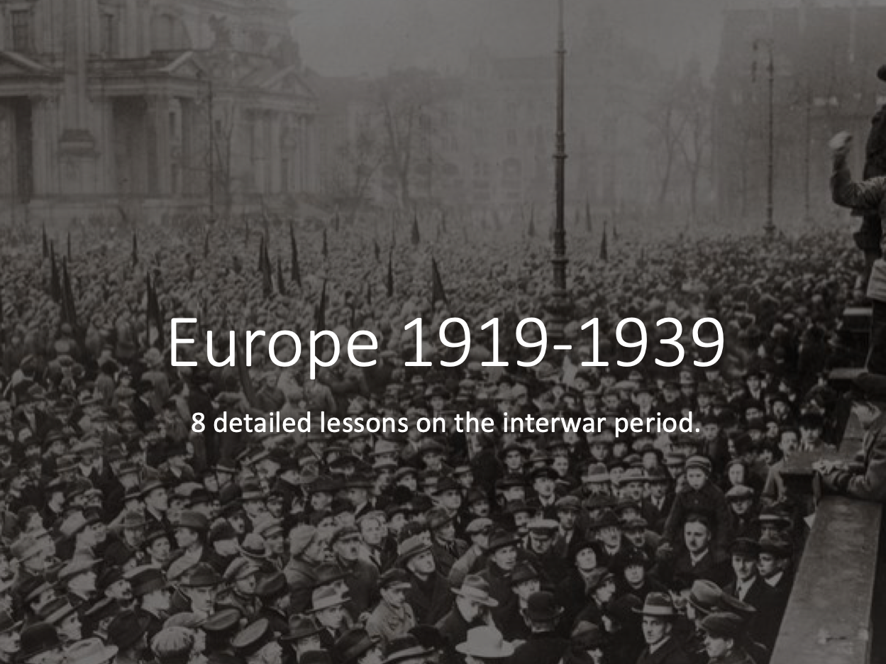 Europe 1919-1939 Mini Scheme of Work