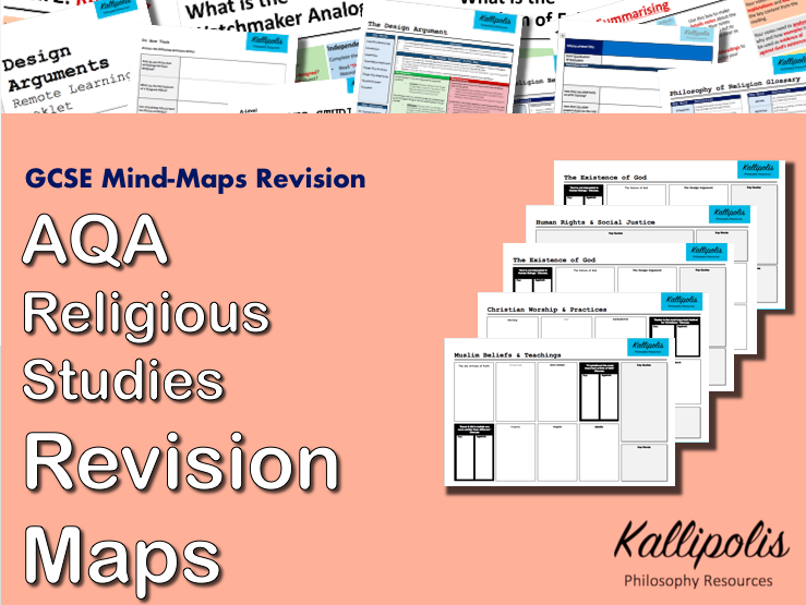 AQA GCSE  Religious Studies Revision Pack - Blank Mind-Map Handouts