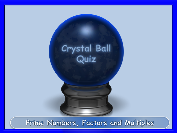 Prime numbers, factors and multiples interactive fun quiz L1 L2
