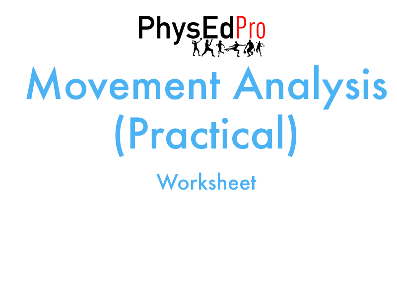 GCSE PE – Movement Analysis – Muscles, Bones and Joints Worksheet or Homework Activity– IGCSE