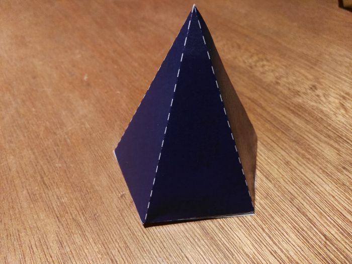Build a Pentagonal Pyramid from a 2D net