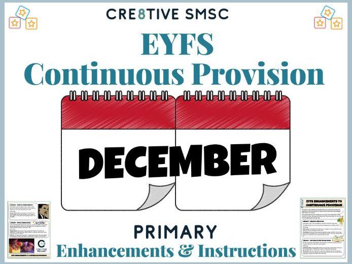 EYFS Pre School Activities - December