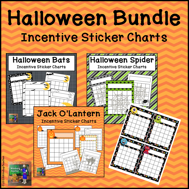 Halloween Incentive Reward Charts Bundle