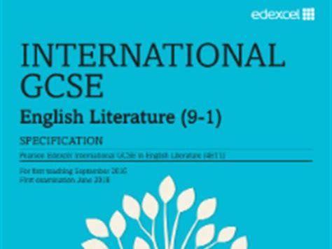 Edexcel iGCSE Literature - Poetry Comparisons