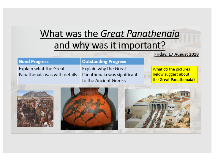 What was the Great Panathenaia?