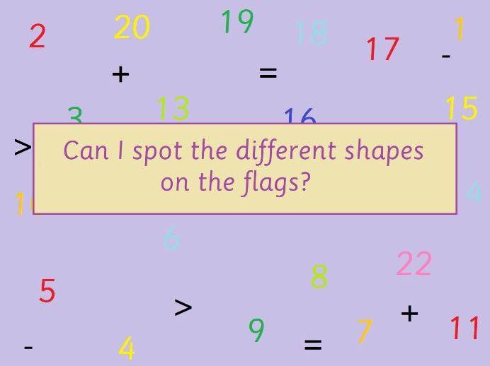 KS1 Maths Shapes on Flags