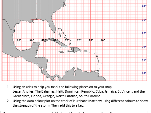 photo about Printable Hurricane Tracking Maps titled Hurricane Matthew 2017 monitoring map fitness