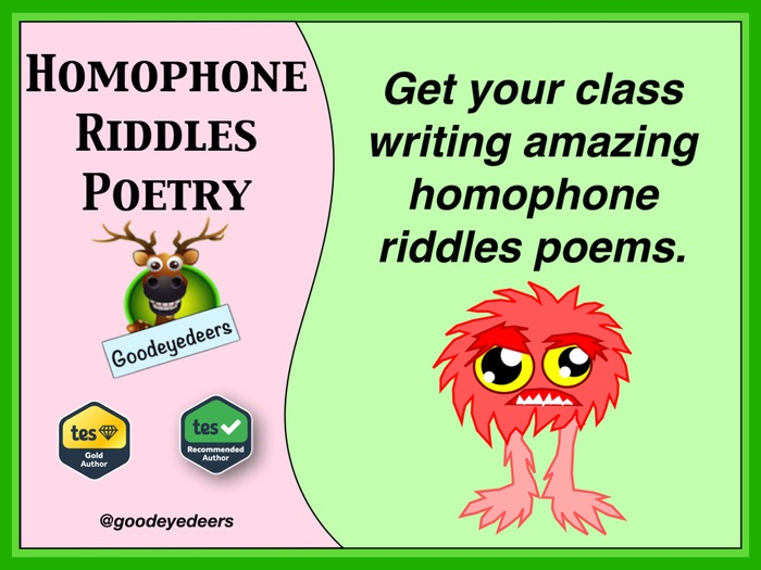 Homophone Riddle-Poems