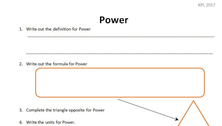 GCSE Physics Worksheet Pressure Law Definition maths – Power Worksheet