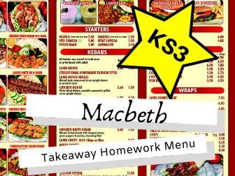Macbeth KS3 Takeaway Homework Menu