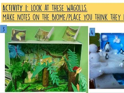 Year 3/4/5/6 HOME LEARNING/VIRTUAL lessons - habitat/biome junk modelling - 2 lessons