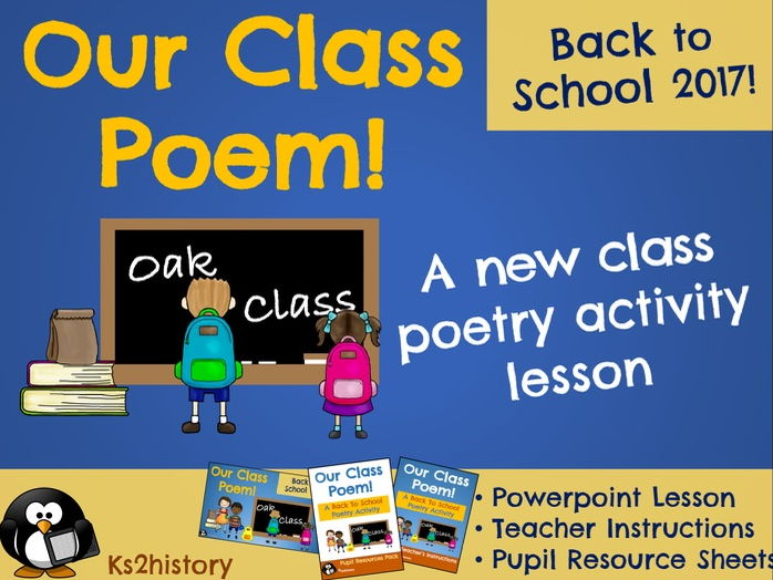 Our Class Poem (One-off /standalone Literacy Lesson)