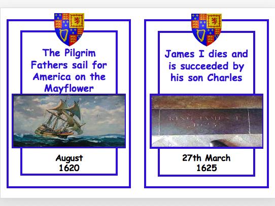 James I Timeline Cards