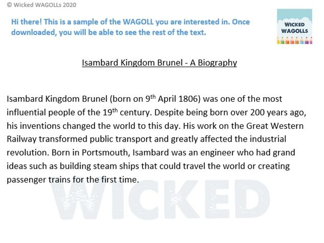 A Biography of Isambard Kingdom Brunel