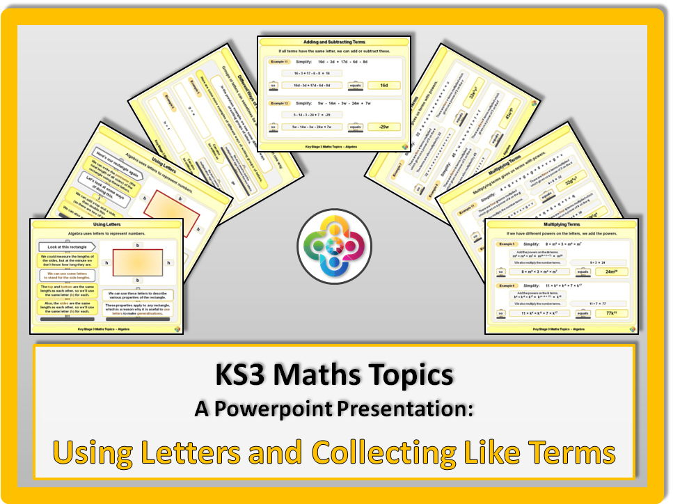 Using Letters and Collecting Like Terms