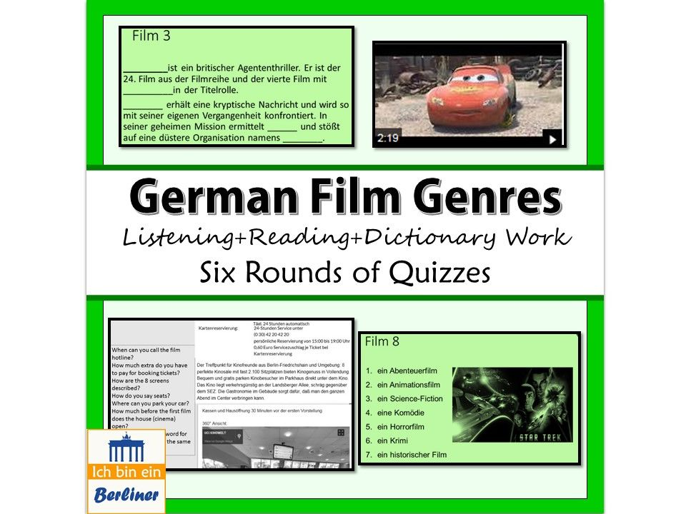 Film Quizzes, Puzzles and Speaking tasks