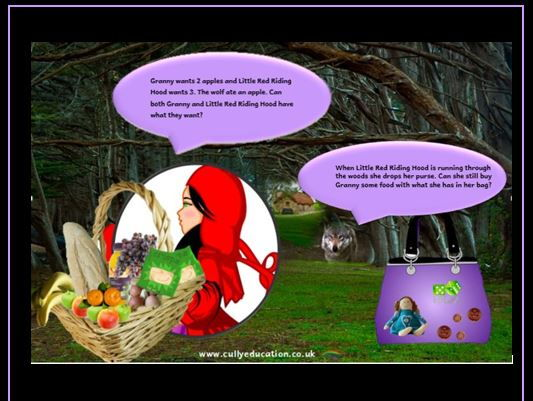 Little Red Riding Hood Numerical Reasoning Mat N to Y3 Skills