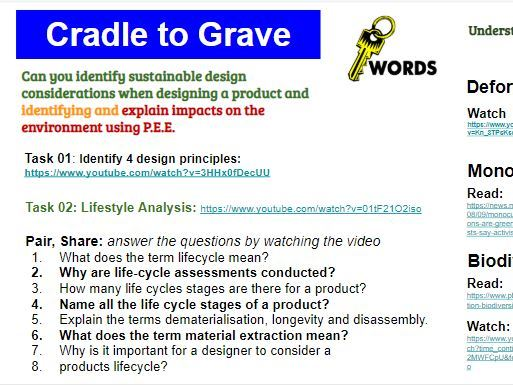 Emerging Technologies and Sustainability Pearson Edexcel GCSE KS4 Lessons and worksheets