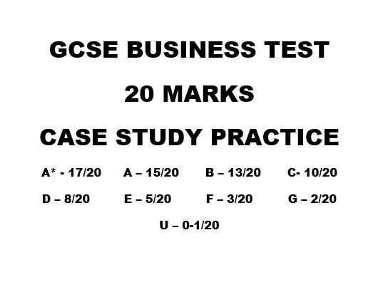 Business GCSE Test - Case Study - Coffee Shop