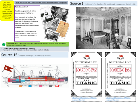 Titanic: What can the Titanic reveal about life in Edwardian England? (Lesson 1)