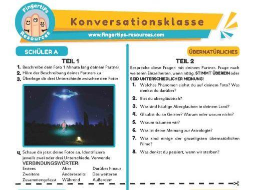 Übernatürliches - German Speaking Activity