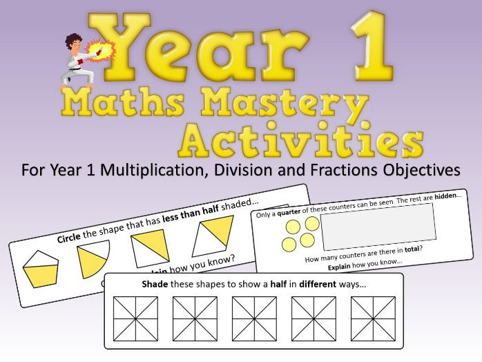 Multiplication, Division and Fractions Mastery Activities – Year 1
