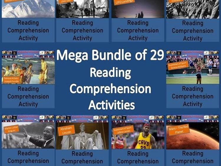 Mega Bundle of Reading Comprehension Activities