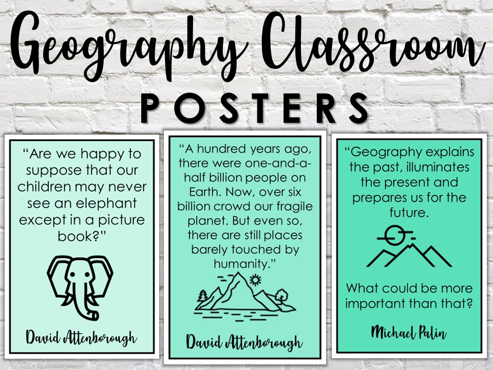 Geography Classroom Quote Posters