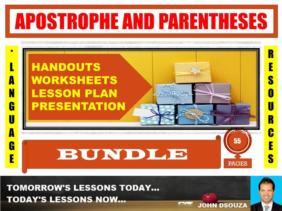 APOSTROPHE AND PARENTHESES BUNDLE