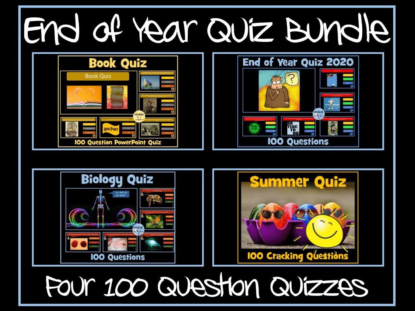 End of Year Quiz Bundle
