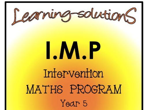 INTERVENTION MATHS PROGRAM - IMP Year 5 - FREE SAMPLE for PREVIEW purposes