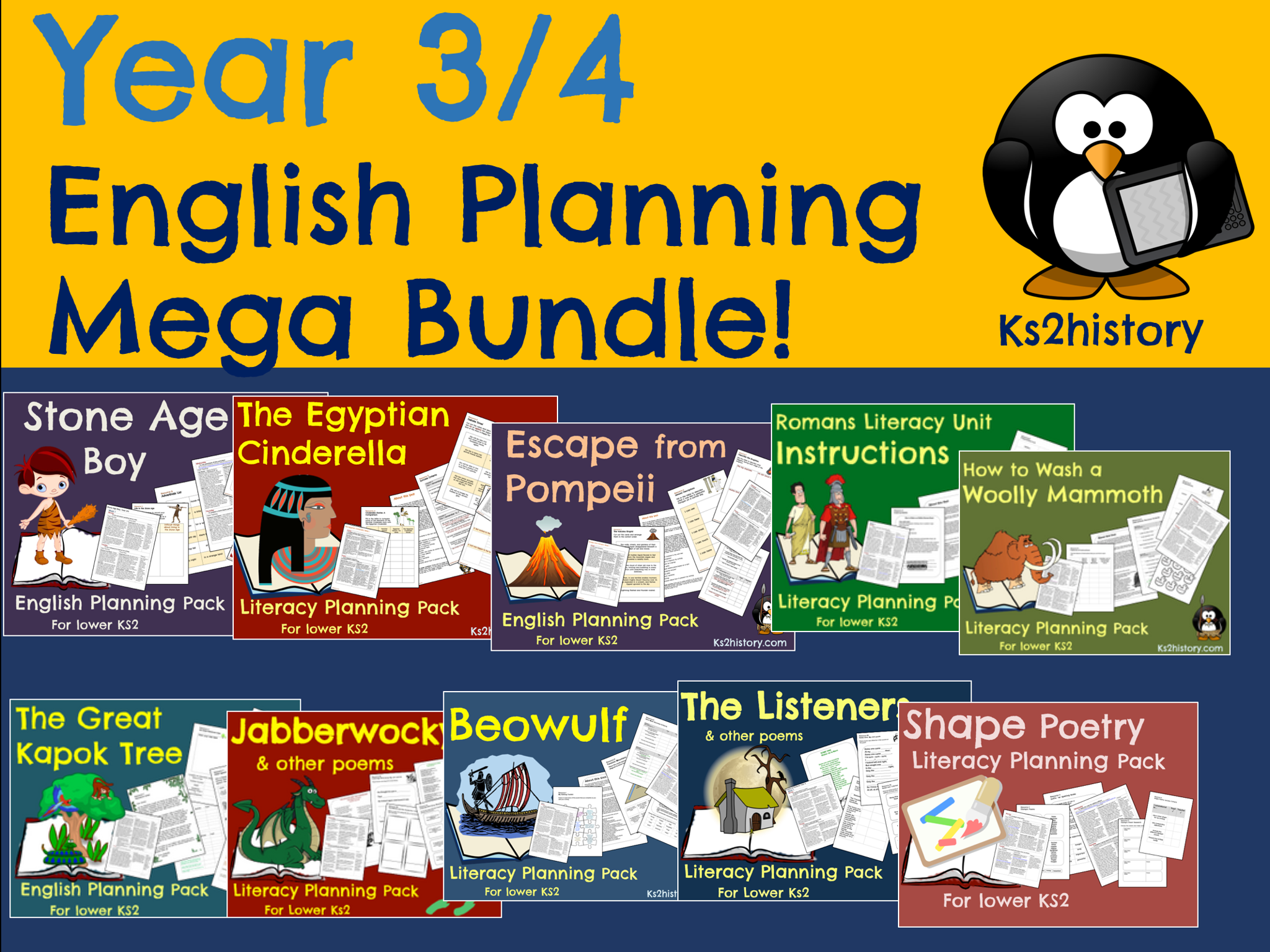 Year 3 / Year 4 English Planning Bundle