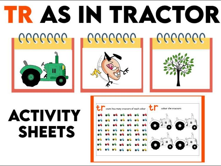 Tr as in Tractor Activity Booklet KS1
