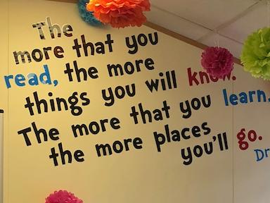 Dr Seuss Reading Corner Quote