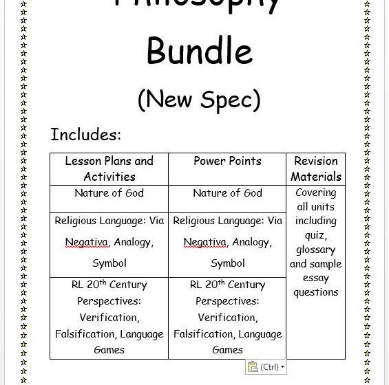 Second Year Philosophy New Spec Bundle