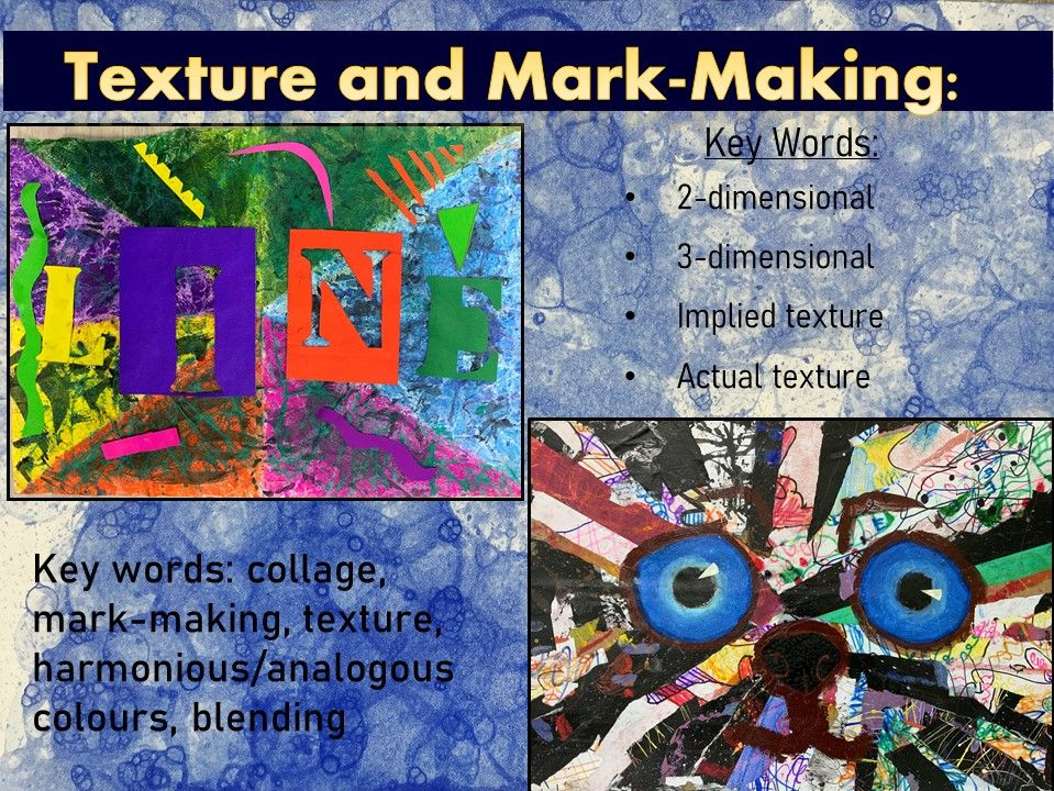 Bundle: Texture and mark-making